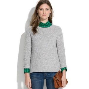 Madewell Basketweave Knit Sweater Sm Heather Gray